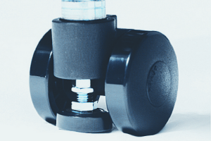 Castors and adjustable feet combined